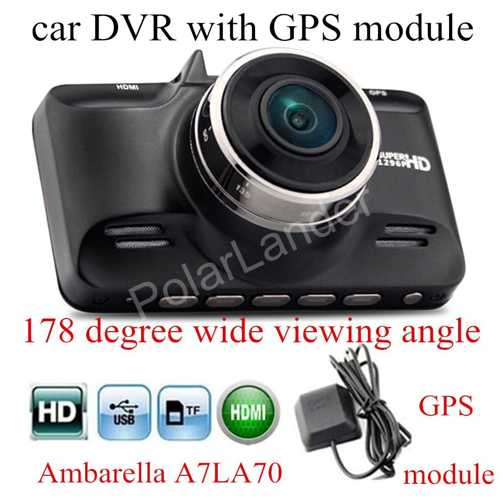 original GS98C Ambarella A7LA70 Car DVR with GPS module Recorder G-Sensor Dash Cam night vision 178 degree wide viewing angle gs98c ambarella a7la70 car dash camera super hd 2 7 inch lcd screen video dvr cam g sensor with gps module track record