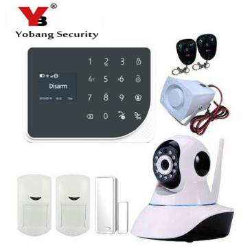 YoBang Security Smart Home Security WIFI GSM Alarm System And Android IOS APP Control Spanish Russian Voice Video IP Camera.