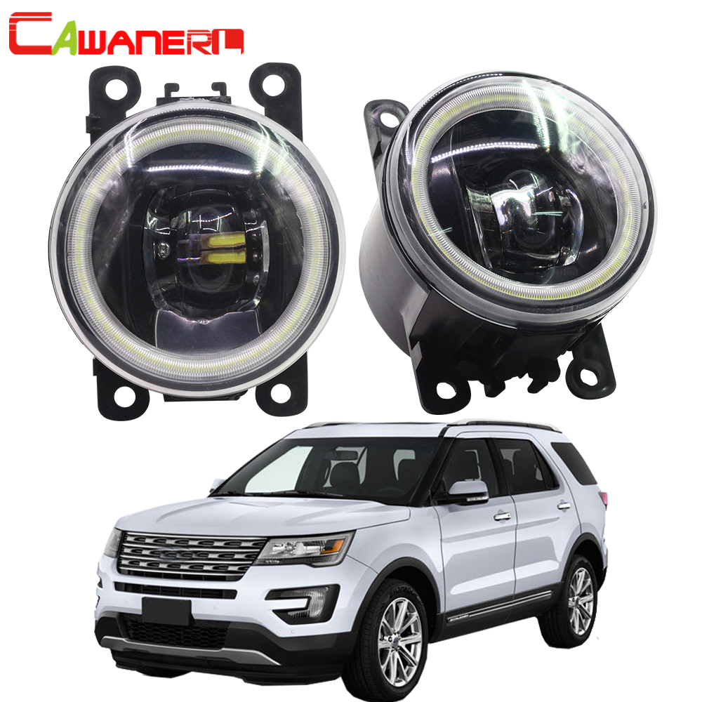 Cawanerl For Ford Explorer 2011 2012 2013 2014 Car LED Lamp H11 Fog Light Angel Eye