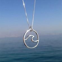 Collar con colgante de ola de mar a la moda de verano para mujer, joyería Náutica de surf para viajes, regalo de amor