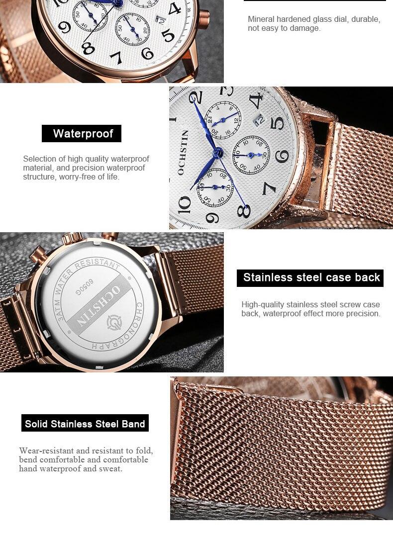 Mens Relógios Top Marca de Luxo Relógio