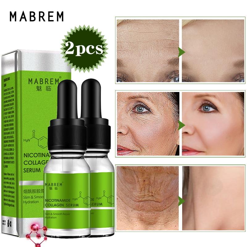 2PCS Nicotinamide Collagen Repair Serum Anti aging Face Serum Skin Care Essence Anti Wrinkle Moisturizing Whitening