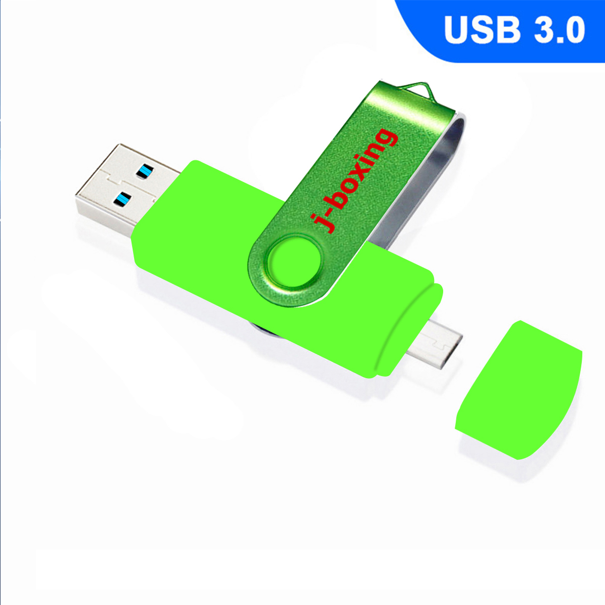 128GB USB 3.0 Metal Flash Drive 3in1 OTG Memory Stick for iPhone Tablet Samsung