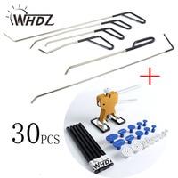 30pcs High Quality Car Paintless Dent Repair Tool Set Dent Puller Glue Stick Slide Hammer PDR Tabs Handle Lifter Auto Dent tools
