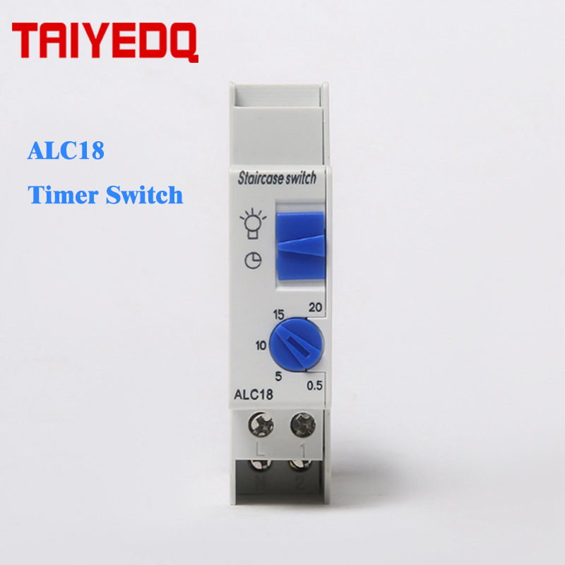 Us 5 0 Alc18 Staircase Lighting Timer Switch Relay 220v 16a Corridor Mechanical Din Rail 50 60hz In Relays From Home
