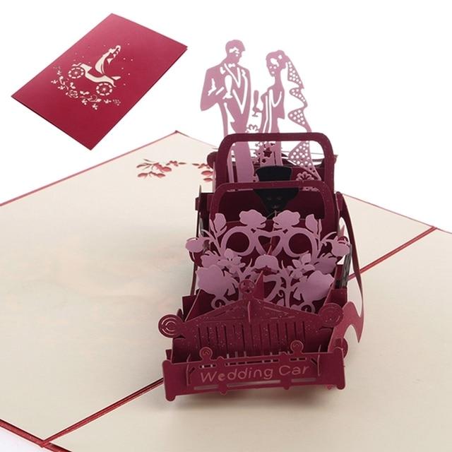 3d Pop Up Paper Laser Cut Greeting Cards Creative Handmade Wedding