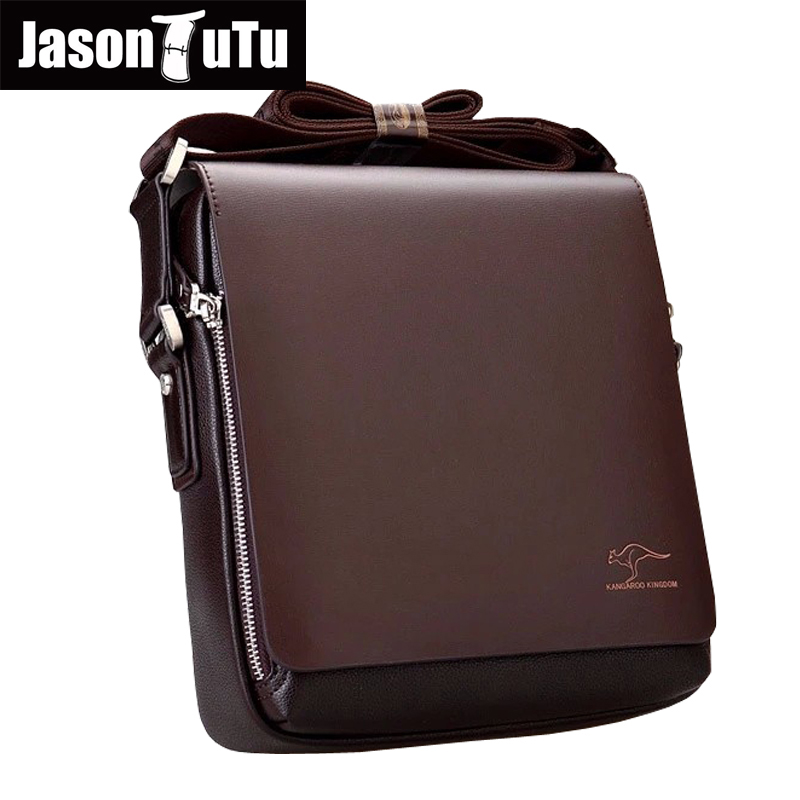 New Kangaroo design leather men Shoulder bags men s casual business messenger bag vintage crossbody ipad