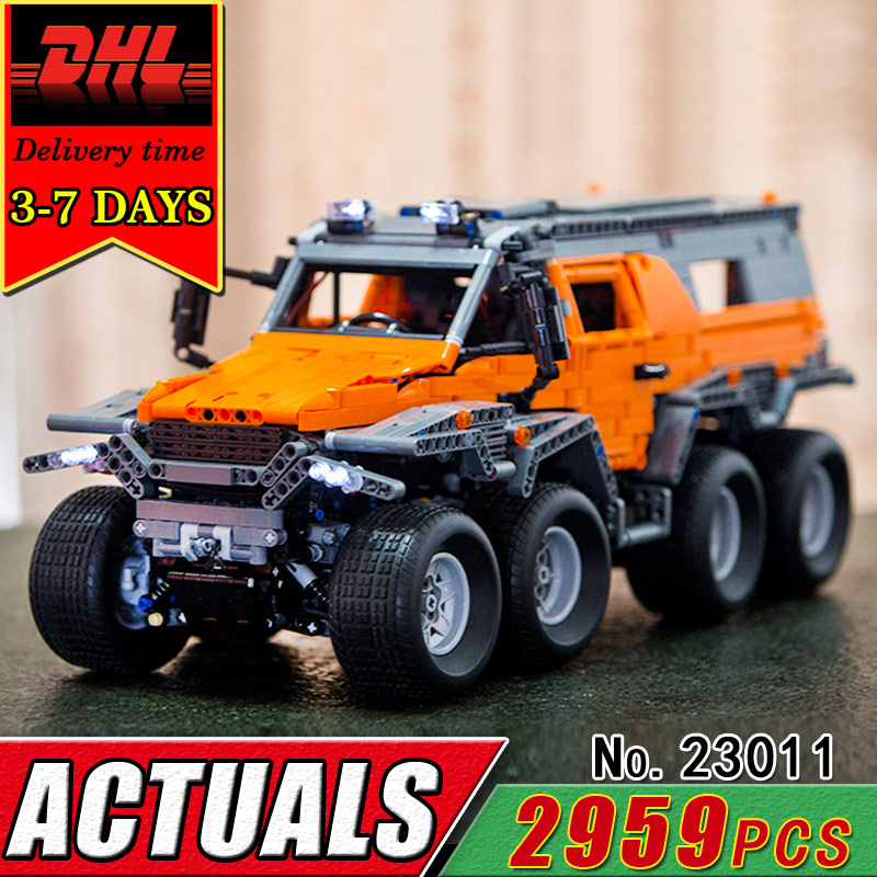 DHL LEPIN 23011 Technic Series Off-Road Vehicle Model Electric Remote Control Car Building Blocks Compatible Bricks Toy Children lepin 21003 series city car classical travel car model building blocks bricks compatible technic car educational toy 10252