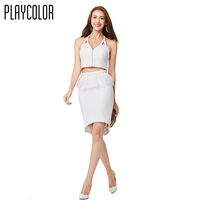PLAYCOLOR Formal Evening Dress Sleeveless Feature Evening Gowns Straight Prom Dresses Girl S Party Dress PD15012024