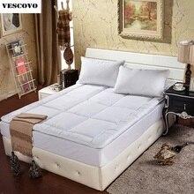 Branco macio acolchoado Colchão Topper com Alças móveis para casa Hotel Cinco Estrelas Transporte rápido