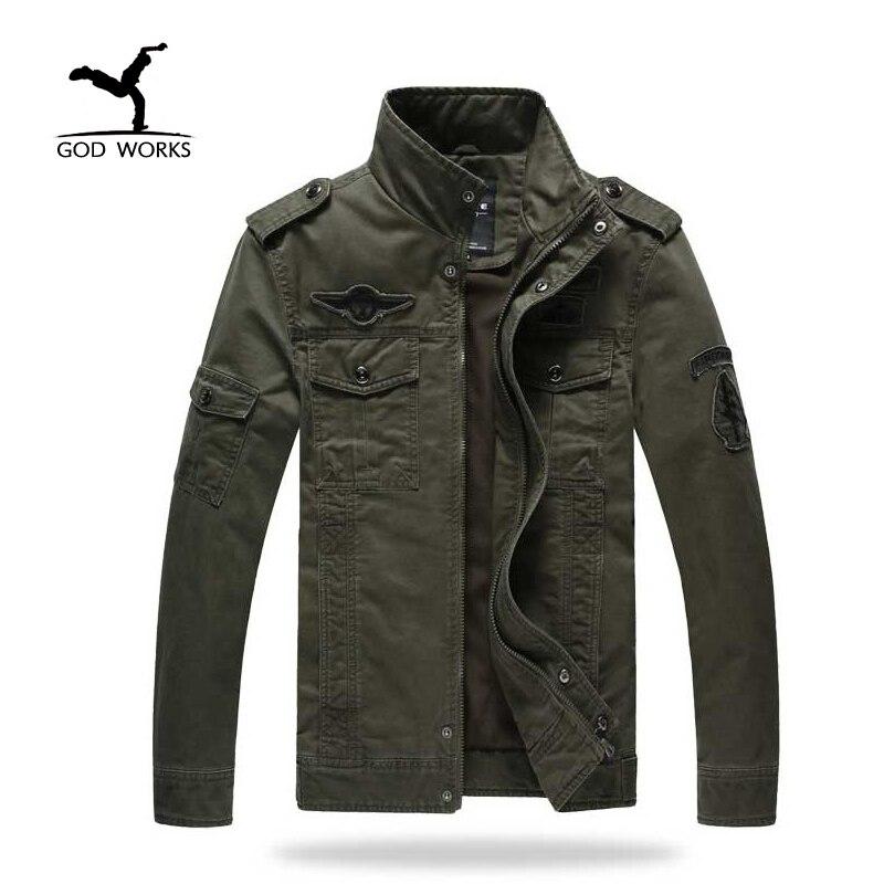 Mens Veste Styles Mâle Printemps Militaire veste Plus La taille 6XL armée soldat À Laver coton Air force vêtements Automne Hommes vestes
