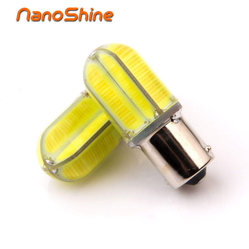 Nanoshine 2pcs bright 1156 BA15S P21W led Car Tail Bulb Brake Lights auto Reverse Lamp Daytime Running Light red white yellow car styling tail lights for toyota highlander 2015 led tail lamp rear trunk lamp cover drl signal brake reverse