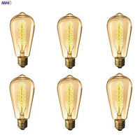 IWHD Lampada Edison Lamp Bulb Vintage Light Bulb ST64 40W E27 220V For Decor Retro Lamp Incandescent A19 G80 St58 T185
