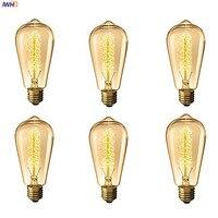 IWHD Lampada Edison Lamp Bulb Vintage Light Bulb ST64 40W E27 220V For Decor Retro Lamp Incandescent A19 G80 St58 T185
