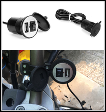 Universal motorcycle USB mobile phone charger switch waterproof for Kawasaki ZZR600 Z900 Z650 VERSYS 1000 VULCAN S 650cc Z750