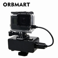 ORBMART 5200mAh Waterproof Extended Battery Side Power Bank For Gopro Hero 5 6 7 Session Xiaomi Yi SJCAM Action Sport Cameras