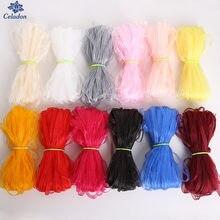 Mix Farbe Organza Bänder 3mm Breite 20 Yards Bekleidung Nähen Stoff DIY Geschenkverpackung Hochzeit Dekoration Bänder Bänder