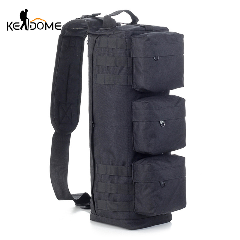 Men's Tactical MOLLE Assault Go Bag Camouflage Shoulder Sling Army Bags Military Hiking Camping Pack Fishing Backpack XA192WD 1000d nylon tactical military shoulder messenger backpack molle camouflage travel camera back pack camping hiking saddle bag