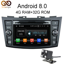 Sinairyu Android 8.0 8 Core 4G RAM Car DVD GPS For Suzuki Swift 2013 2014 WIFI Autoradio Multimedia Stereo