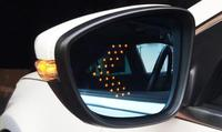 eOsuns rear view blue mirror with led turn signal arrow and electric heating for Volkswagen passat b6 b7 cc golf jetta r36