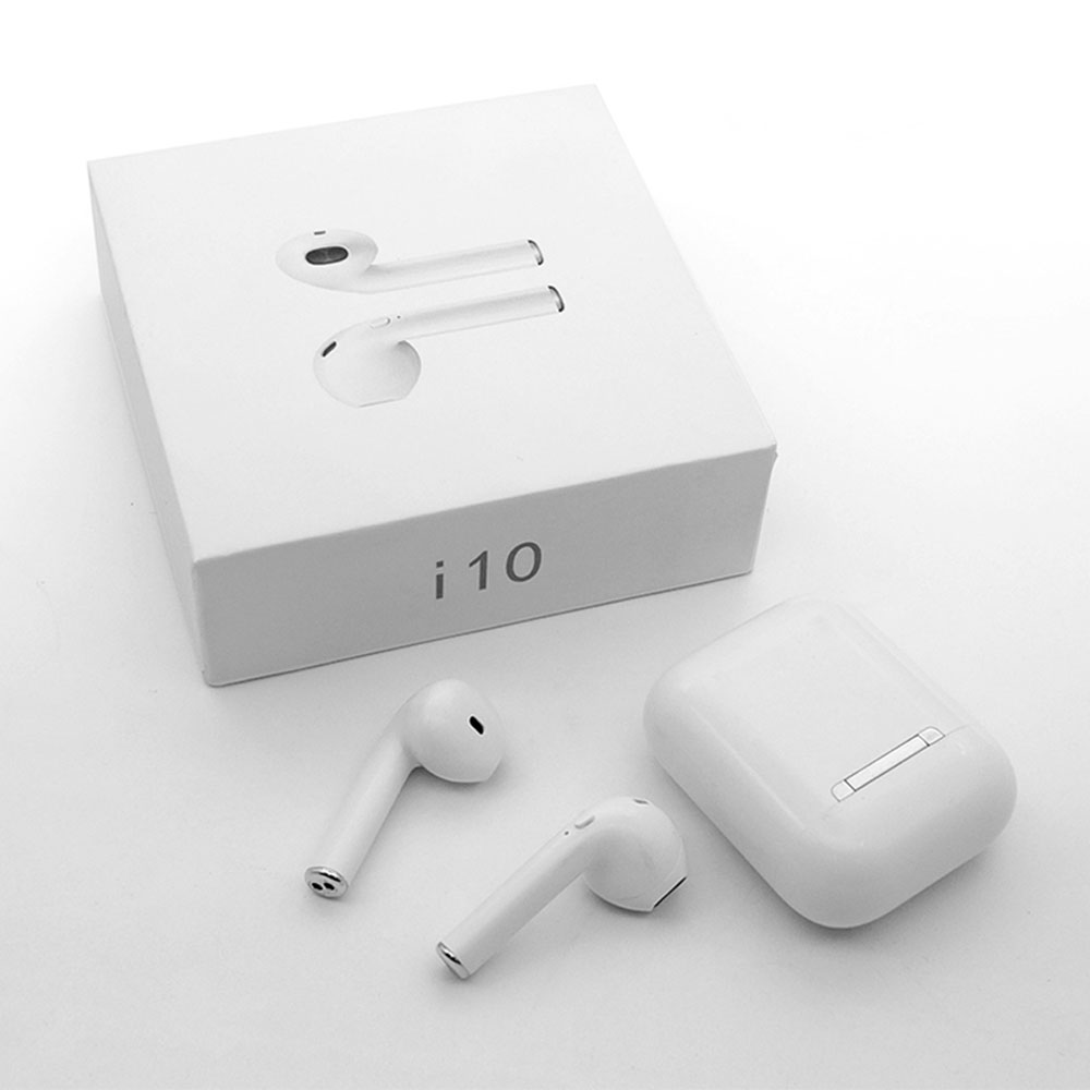New <font><b>i10</b></font> <font><b>TWS</b></font> <font><b>Bluetooth</b></font> <font><b>5.0</b></font> Earphone Stereo <font><b>Earbuds</b></font> Binaural Calling Earphone Headset With Charging Box Mic PK i7s <font><b>i9s</b></font> i11 i12 <font><b>TWS</b></font> image