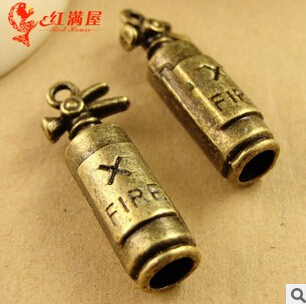 A3628 Free Shipping 50pcs/bag Size 23*9mm Fire Extinguisher Antique Bronze Diy Pendant Jewelry Finding For Chain Accessories Jewelry Findings & Components
