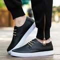 Весной и летом новые мужские случайные кожаные ботинки Британской моды прилив скейт обувь кружева вокруг обувь мужская обувь