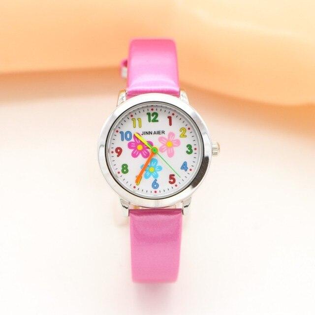 New brand quartz Sun Flower Children Digital Watch Kids Boys Sports Watches Stud