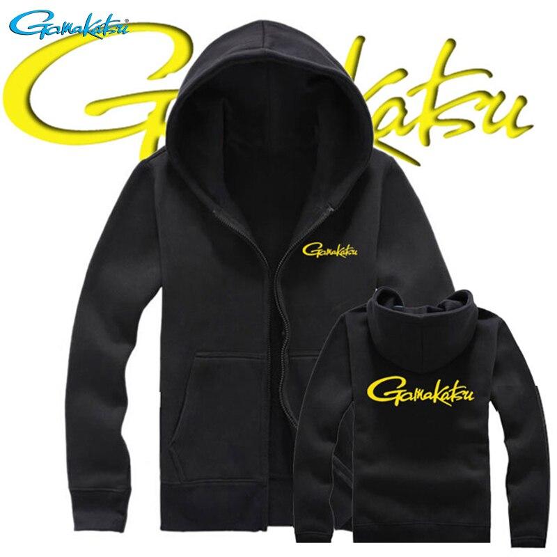 Gamakatsu 2019 Spring Autumn Keep Warm Men Fishing Clothes Sweatshirt Zippers Jacket Outdoor Sports Jackets Fishing Clothing