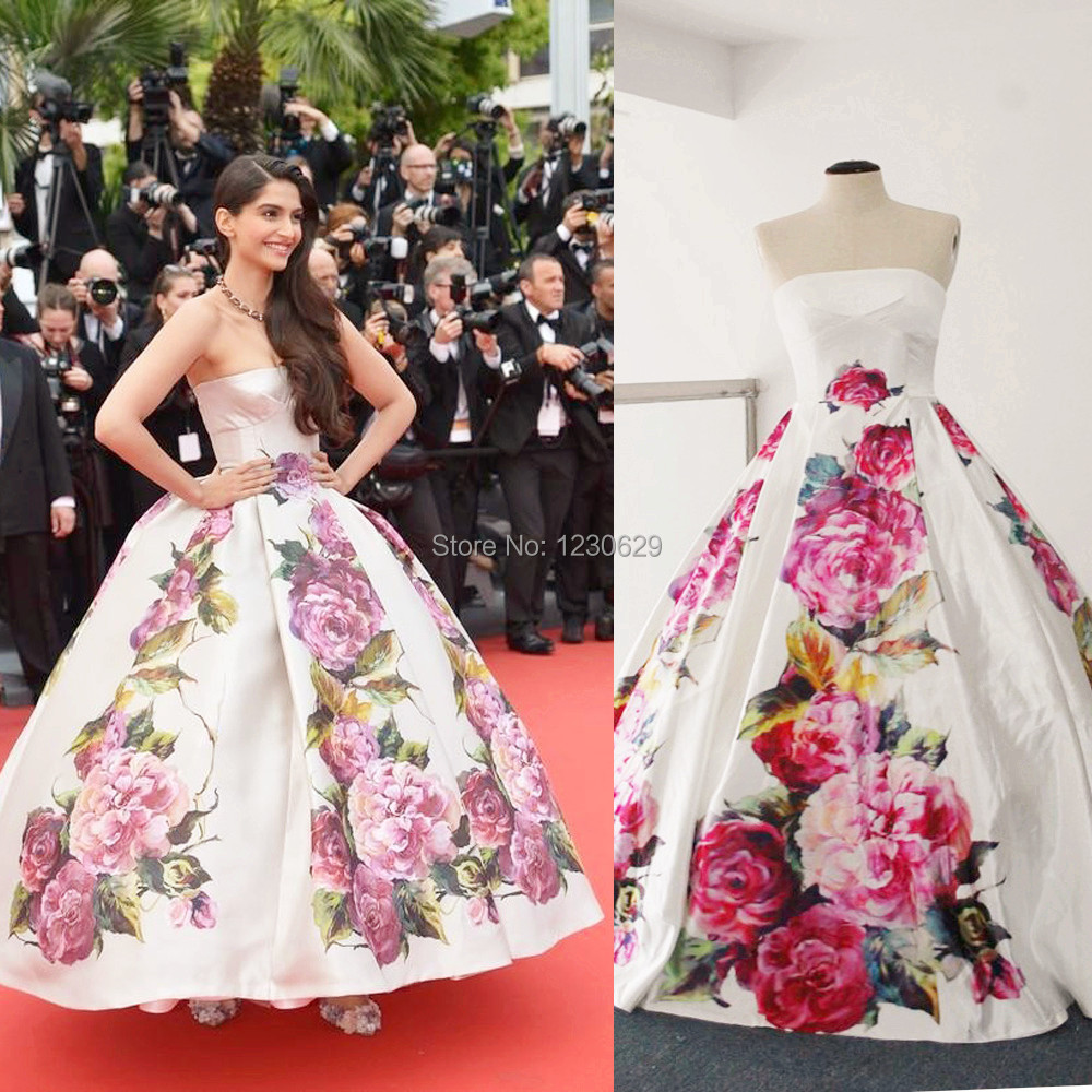 Celebrity inspired red carpet dresses