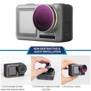 Image 2 - Für OSMO ACTION Kamera Filter Tauchen Rot Magenta Rosa Filter Für DJI Osmo Action UV ND4/8/16 /32 PL Optische Glas Objektiv Zubehör