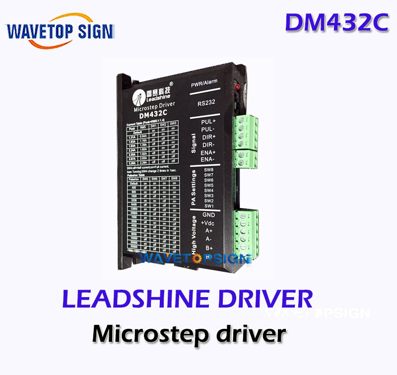 Leadshine  Driver DM432C 2phase stepper Drive Laser engraving Machine Cnc Router  2 phase Step leadshine 2 phase stepping motor drive ma860h for laser engraving cutting machine stepper motor driver
