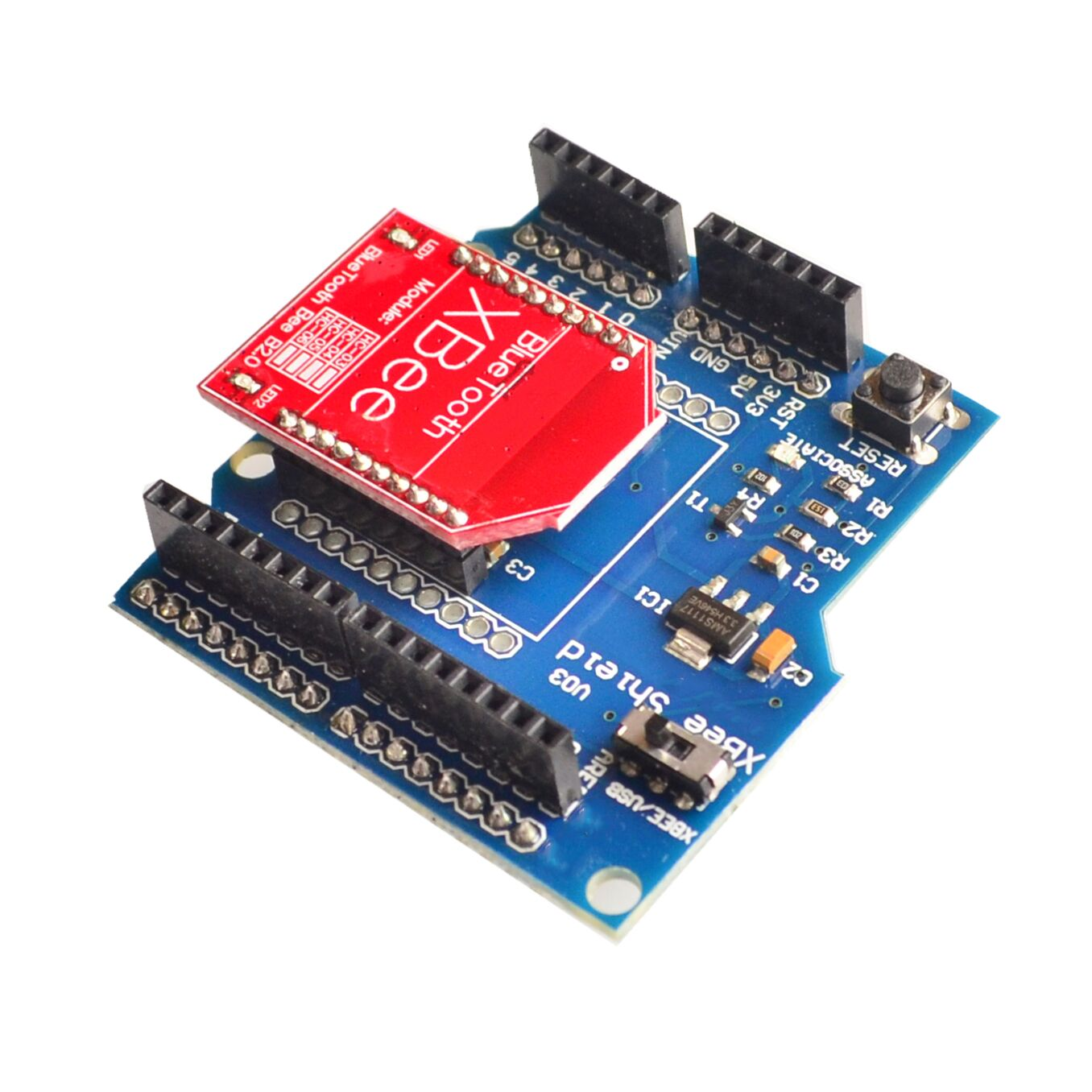 HC-06 RF Wireless Bluetooth Bee V2.0 Module + Xbee V03 Shield Board  WholesaleHC-06 RF Wireless Bluetooth Bee V2.0 Module + Xbee V03 Shield Board  Wholesale