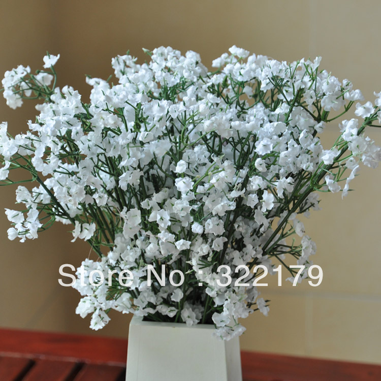 Artificial Babys Breath Silk Flowers For Wedding Aisle Chair Decoration Table Centerpieces Arrangement In Dried From Home Garden On