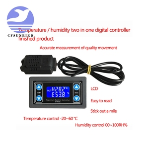 Image 2 - Thermostat Temperature Humidity Control Thermometer Hygrometer Controller Module Relay DC 12V LED Digital Display Dual Output