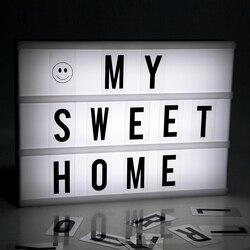 Venda quente cor branca luzes de publicidade led diy carta combinação luz caixa noite lâmpada para vender reunião 6a/4a tamanho freeship