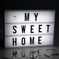 Hot Sale White Color Advertising Lights LED DIY Letter Combination Light Box Night Lamp For Selling