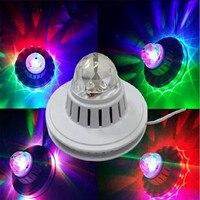 FUMAT Spraakbesturing Mini Podiumverlichting Kleine UFO Licht Revolving lamp magic ball disco laser lamp thuis party led podium lichten
