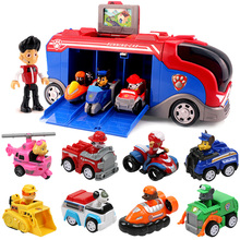 Paw Patrol Mission Cruiser Dog Patrulla Canina Toys Set Chase Marshall Vehicle Car Action Figure Birthday Gifts Toy For Children