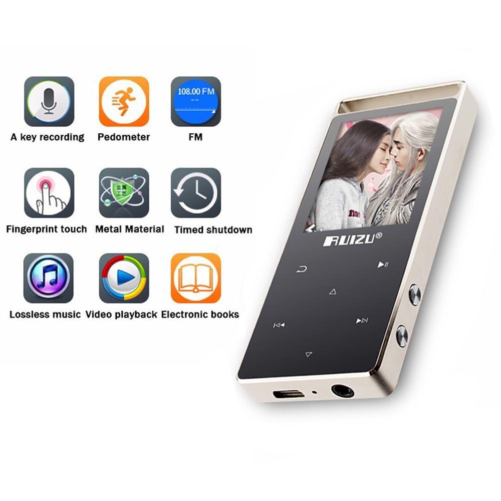 Orijinal RUIZU D01 Dokunmatik Ekran Mp3 çalar 8 GB Pedo Metre Okuma - Taşınabilir Ses ve Görüntü - Fotoğraf 4