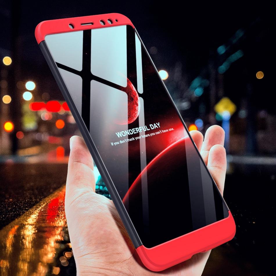 360 Full Protection Case For Xiaomi Redmi 5 Plus Note 5 4X 5A Pro S2 Redmi 6 Pro 3 In 1 Cover Funda Coque For Mi A1 A2 8 SE Case