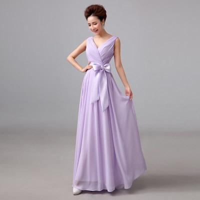 ABCDE 5 designs Light Purple Green Chiffon Bridesmaid Dress for ...