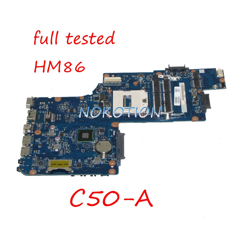 NOKOTION H000063030 laptop motherboard For toshiba Satellite C50 A PT10S UMA MB HM86 DDR3L Main board