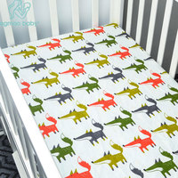 Fitted Crib Sheet For Woodland Toile Baby Toddler Girl Or Boy Bedding Set Collection Animal Print