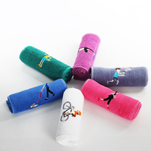 1PC 20*110cm Cotton Embroidery Sports Towel Soft Absorbent Yoga Gym Camping Golf Fitness Sweat Cartoon