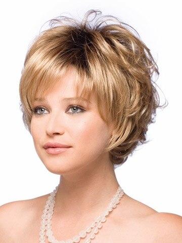 tienda online mujeres peluca corto cortes de pelo rizado pelucas peruca con flequillo completo para mujeres capas pixie cut pelucas de pelo sinttico with