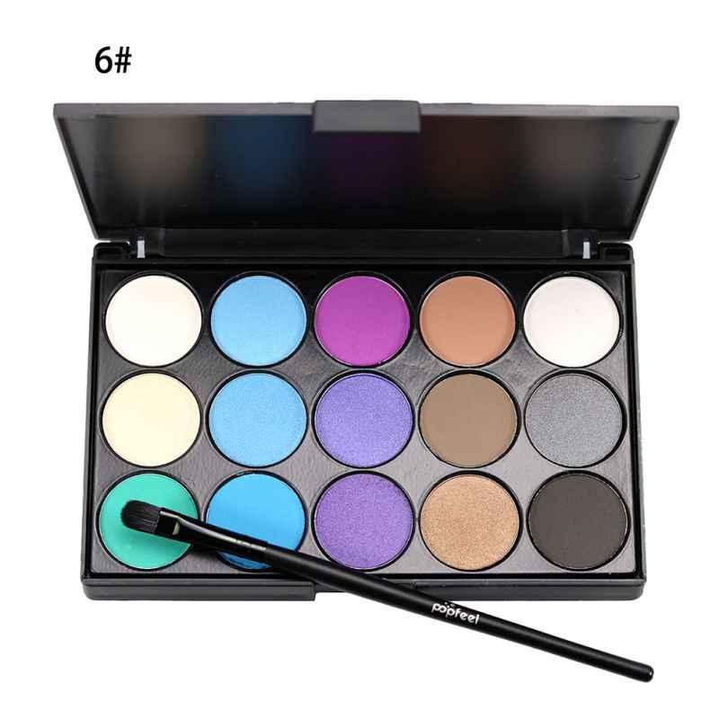 15 צבעים טבעי לאורך זמן צבעים מקצועי צללית צבעים צלליות איפור סט פנינים Maquiagem קוסמטיקה