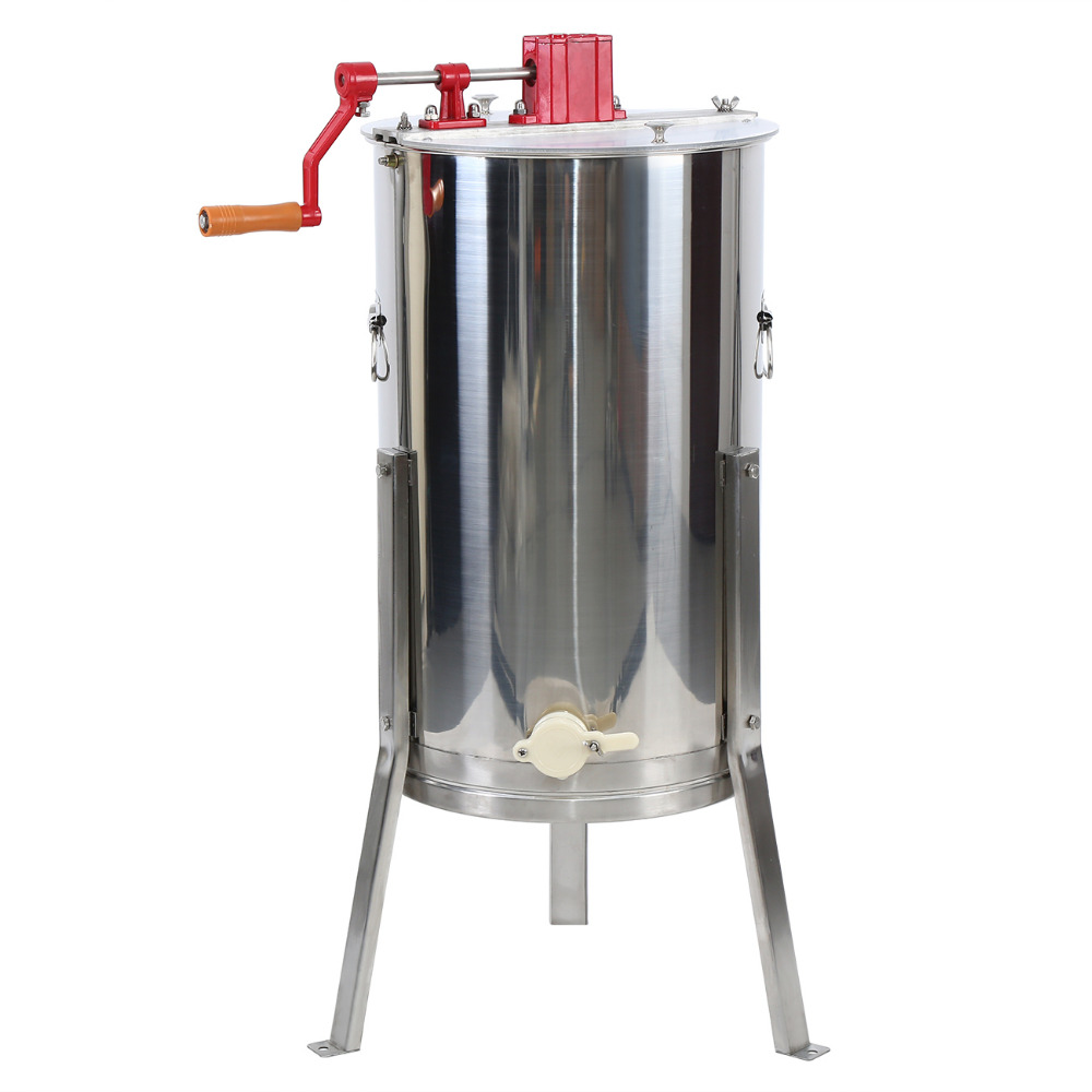 Honey Extractor 3 Frame Manual 304 Stainless Steel Drum Beekeeping Equipment
