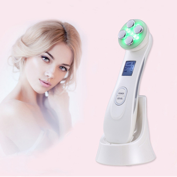 Facial Mesotherapy Electroporation RF Radio Frequency LED Photon Device Face Lifting Tighten Wrinkle Removal Skin Care Massager