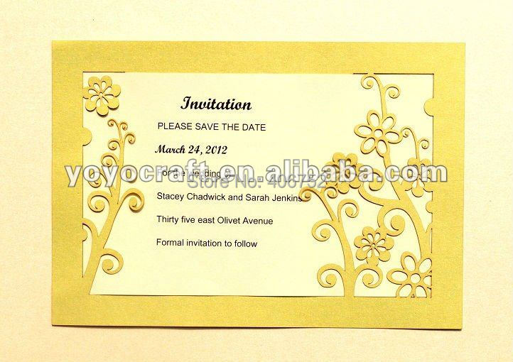 Affordable Laser Cut Wedding Invitations: Delicate Design Wedding Cards Unique Paper Cheap Laser Cut